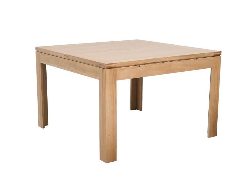 Table carrée extensible l140/200 boston - bois chêne clair massif