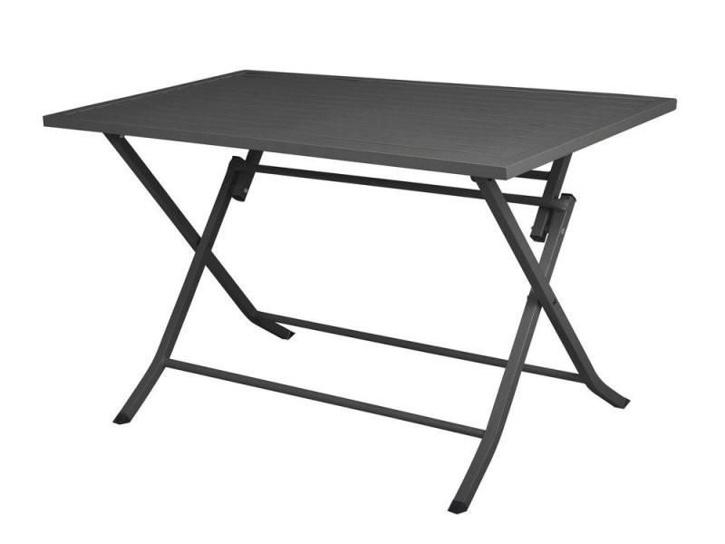 Table de jardin pliante fermob rectangulaire en aluminium l120cm ...