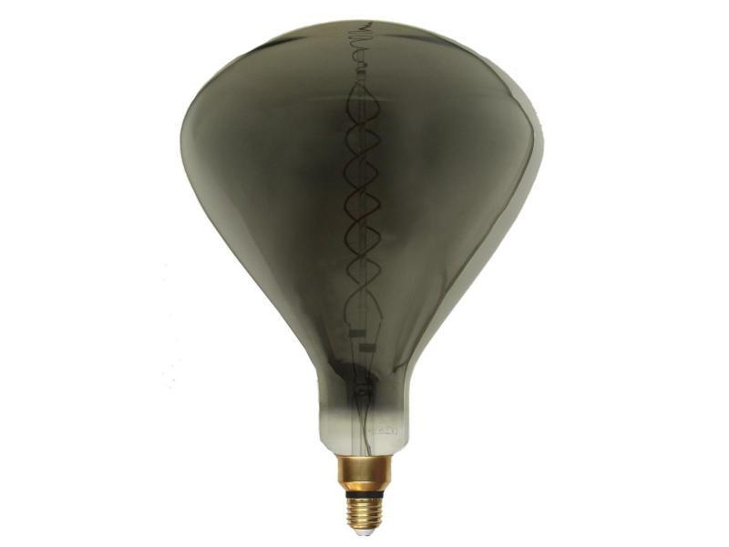 Ampoule e27 led filament dimmable 8w r250 smoke - blanc chaud 2300k - 3500k