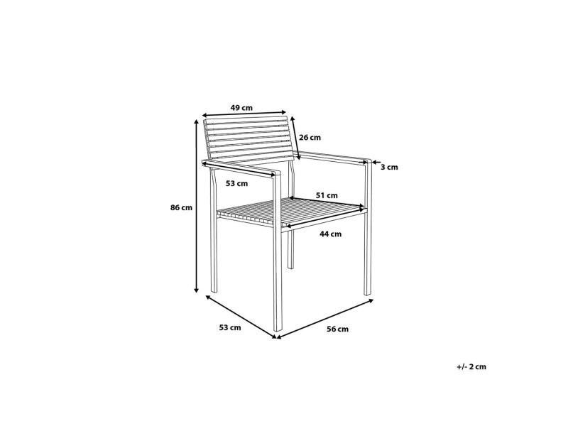 Chaise de jardin en acier inox et teck viareggio 5378 - Vente de ...