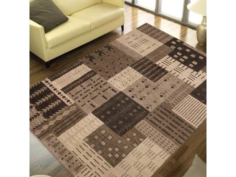 Tapis Chambre Corboda Patch Chocolat Marron 120 X 180 Cm Tapis De Salon  Moderne Design Par Luxor