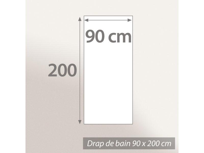 Drap de bain 90x200 cm ficus marron 500 g m2 pur coton bio - Drap de bain bio ...