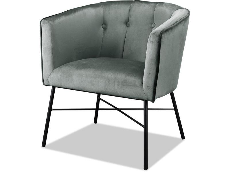 Bobochic fauteuil wexford gris