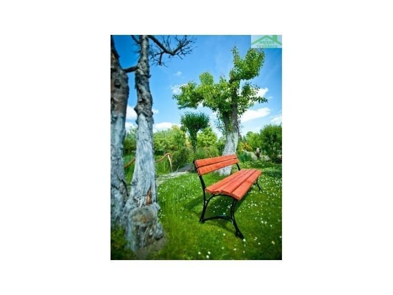 Banc de jardin en bois couleur acajou et aluminium 150cm ou 180cm ...