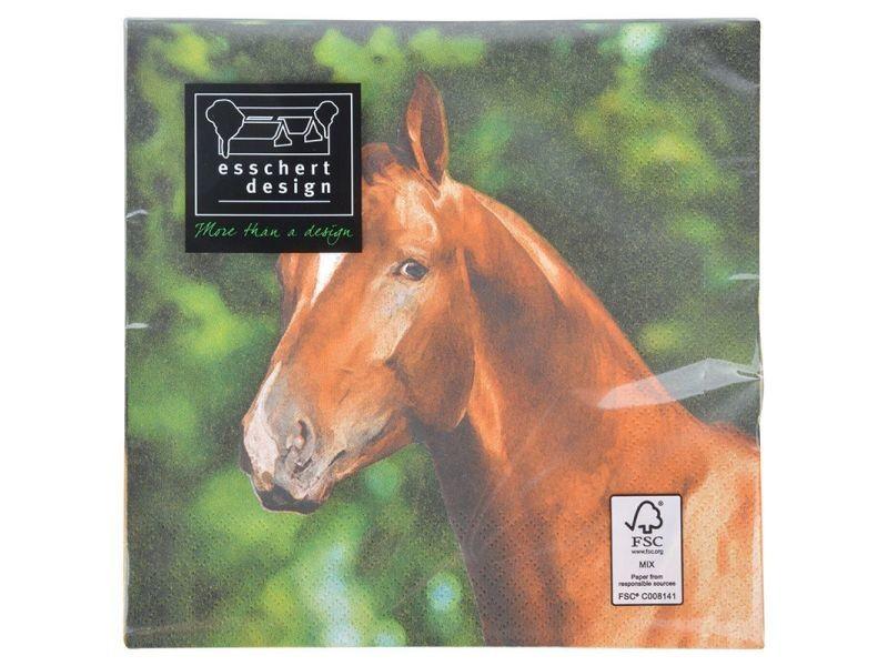 Serviette en papier de soie avec motifs (lot de 20) cheval