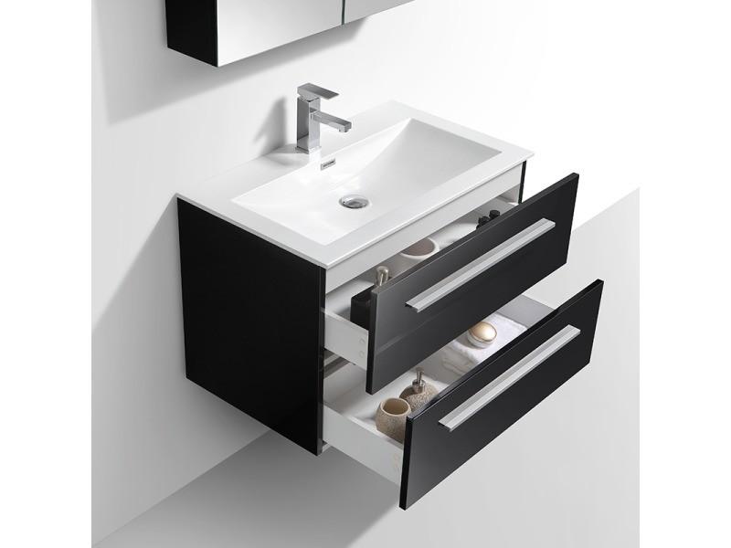 Meuble salle de bain design simple vasque siena largeur 80 - Meuble vasque salle de bain conforama ...