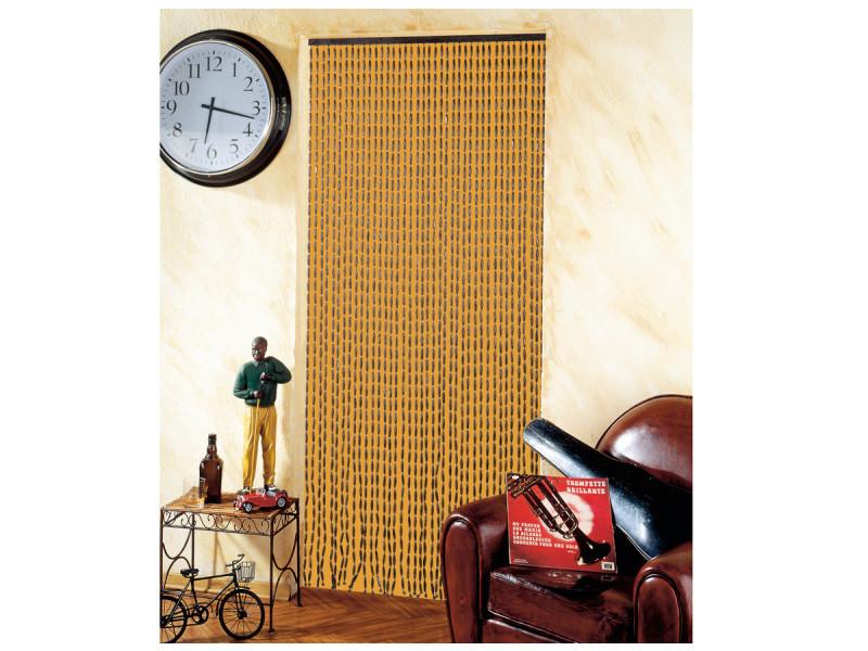 Rideau de porte en perles de bois - 90 x 200 cm - Vente de JARDIDECO ...