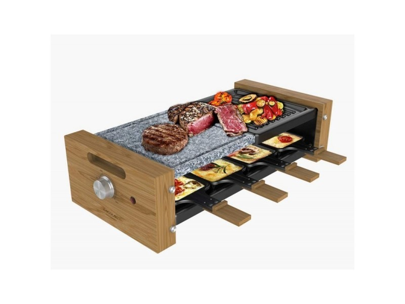 Raclette, cecotec, cheese&grill 8400 wood mixgrill
