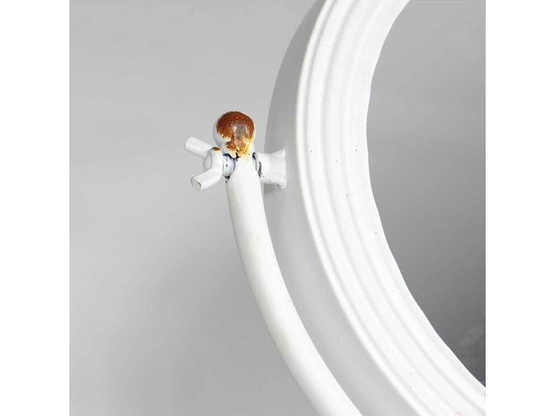 Miroir style industriel blanc uhmir vente de miroir de - Miroir salle de bain conforama ...