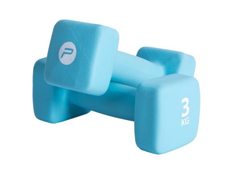 Pure2improve ensemble d'haltères 2x3 kg néoprène bleu 427690