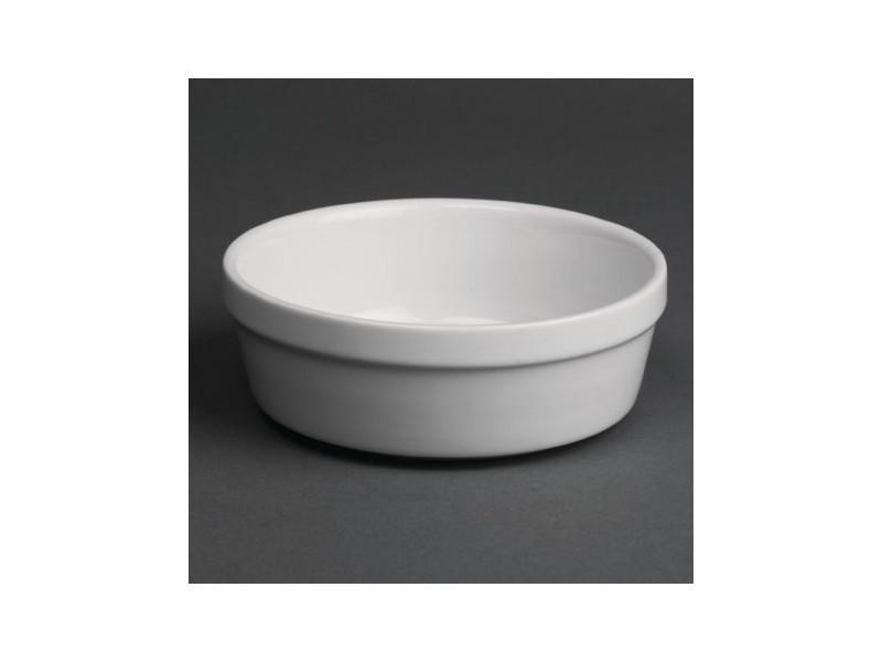Plats à gratin ronds blancs olympia 119 mm - boite de 6 - 11,9 cm porcelaine