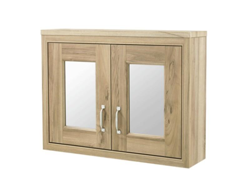 Armoire de toilette bloc-miroir rosebury 80 cm noyer ...