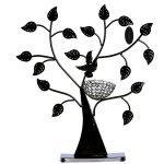 Présentoir porte bijoux arbre support boucle d'oreille vitrine noir 39 cm 3512055