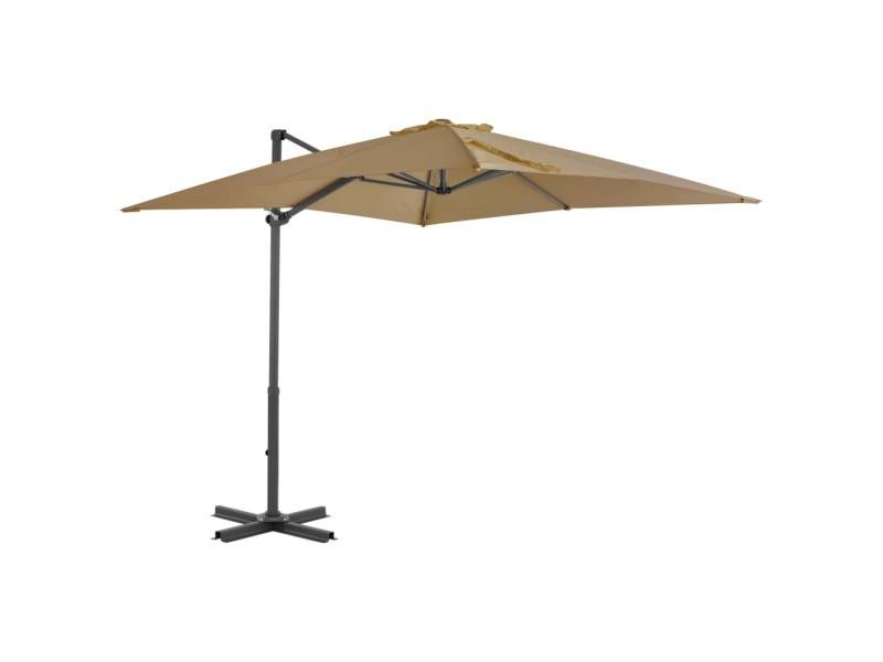 Vidaxl parasol avec base portable taupe 276330