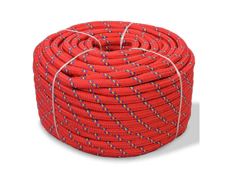 Magnifique chaînes, câbles et cordes categorie banjul corde de bateau polypropylène 16 mm 250 m rouge