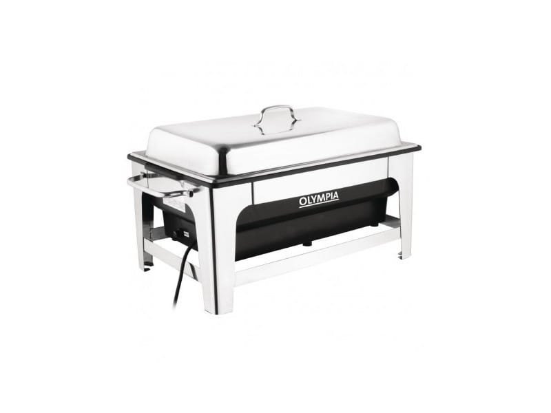 Chafing dish électrique inox 13,5 l - olympia - 1350 cl
