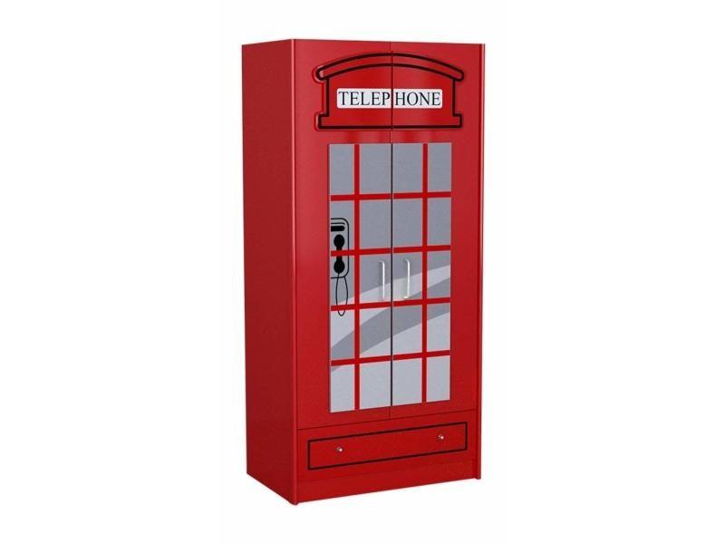vipack armoire london 2 portes scwrlb vente de vipack conforama. Black Bedroom Furniture Sets. Home Design Ideas