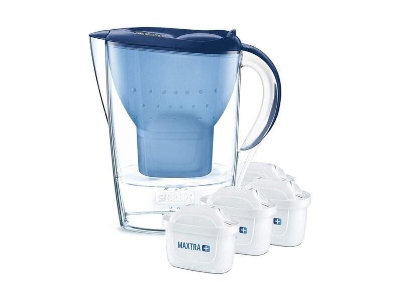 Carafe filtrante 2.4l bleue avec 4 cartouches maxtra+ - 1026040 1026040