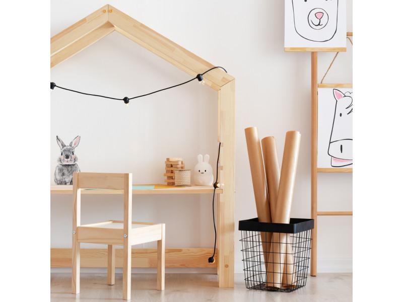 Bureau cabane / bureau enfant - young - 111 cm - plateau réglable - Vente de Bureau - Conforama