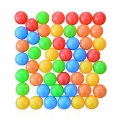 Lot de 50 balles en plastique colorées pour piscine de boules, billes, sphères