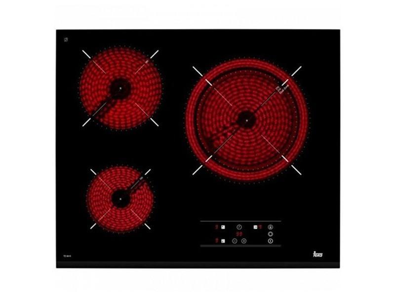 Plaque vitrocéramique avec 3 zones de cuisson 5400w 60 cm noir - plaque de cuisson cuisine