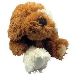 Peluche chien en acrylique brun