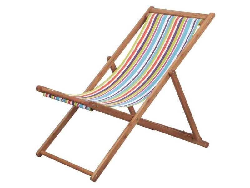 Stylé sièges d'extérieur categorie bagdad chaise de plage pliante tissu multicolore