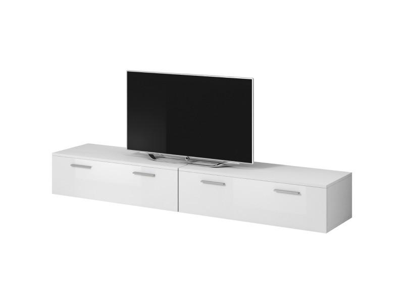"""E-com - Meuble TV """"Boston"""" - 200 cm - blanc TVU107200WWHG"""
