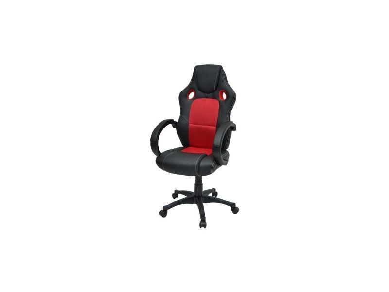Drift fauteuil de bureau gaming design baquet simili noir et
