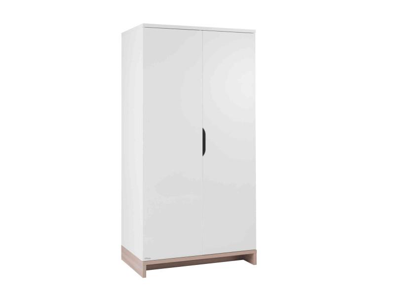 Armoire 2 portes lilo - blanc bois GAL3483600737168