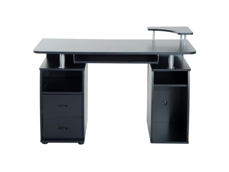 bureau pour ordinateur table meuble pc informatique multim dia en mdf vente de homcom conforama. Black Bedroom Furniture Sets. Home Design Ideas