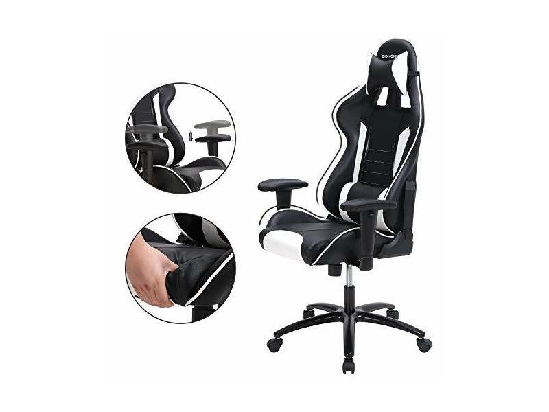 Songmics fauteuil gamer chaise gaming fauteuil de bureau à
