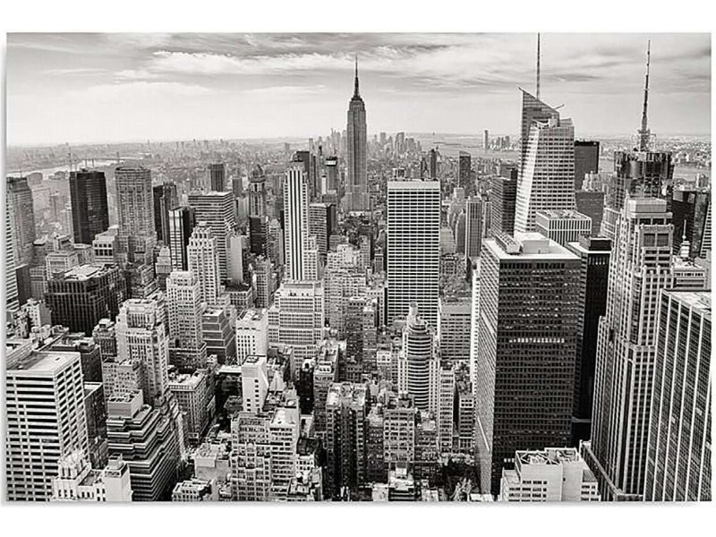 Tableau New York 3 Can 1 Tyk M 30751 70x50 Vente De Recollection Conforama