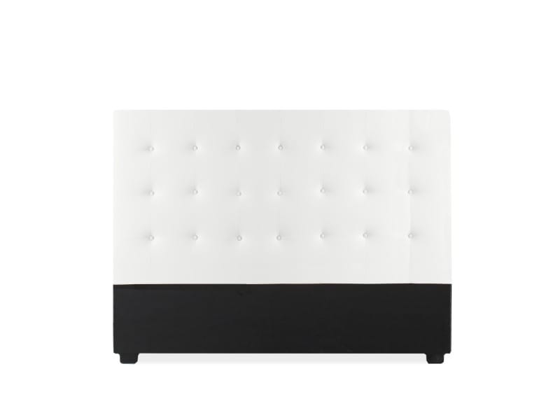 Tête de lit capitonnée romy 160cm blanc