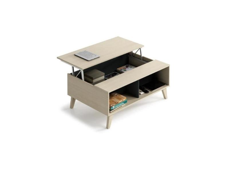 scandinave table décor chene et relevable Zaiken basse gris 7f6bgy