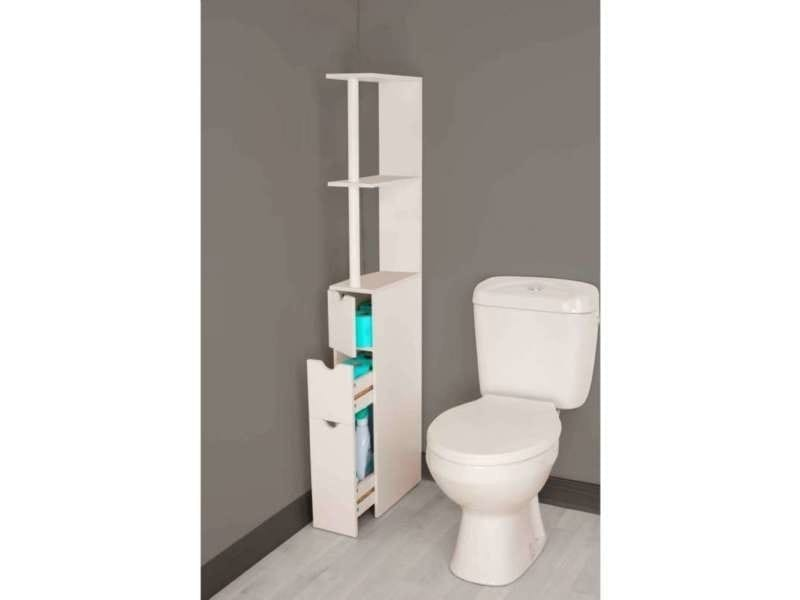 Meuble wc coulissant vente de mini commode conforama for Meuble wc conforama