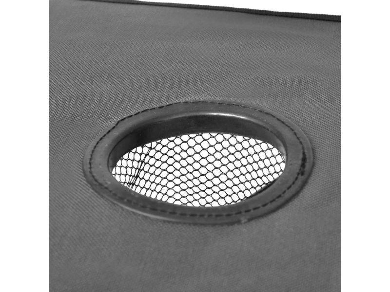 Vidaxl table de camping pliante grise 41488