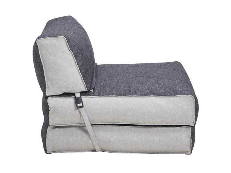 Chauffeuse dakar matelas pliable gris et blanc conforama - Conforama matelas pliable ...