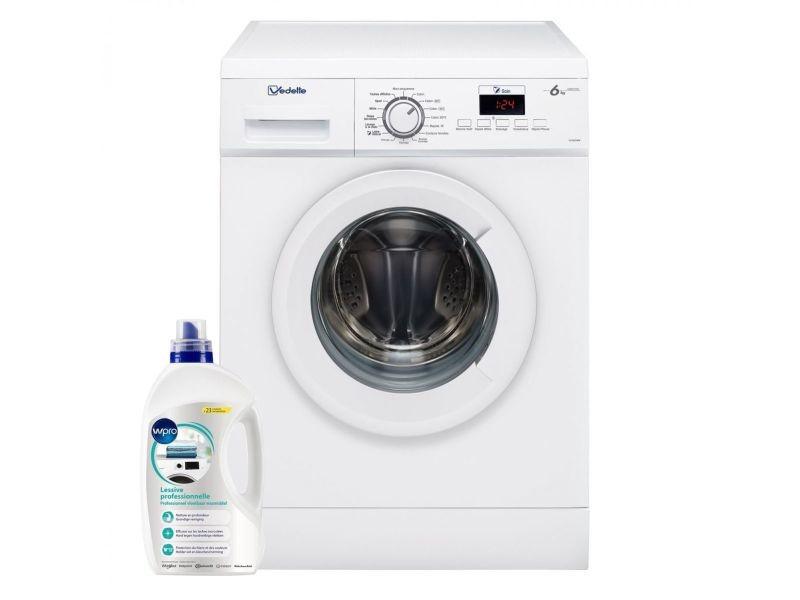 Lave-linge frontal 6kg a+++ 1200trs/min tambour 50l 16 programmes machine à laver hublot