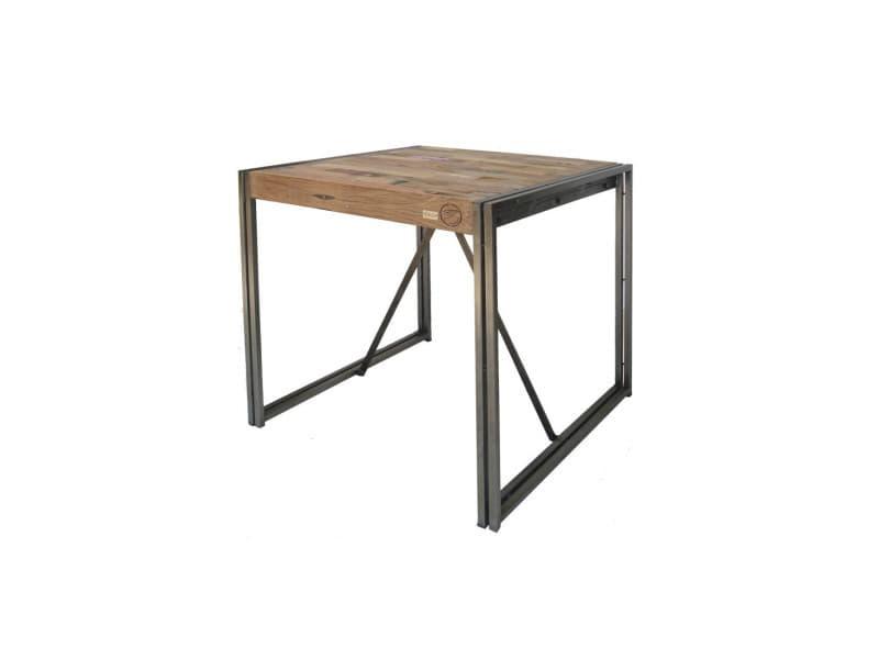 Table mange debout 80 cm² - industry - l 80 x l 80 x h 110 - neuf