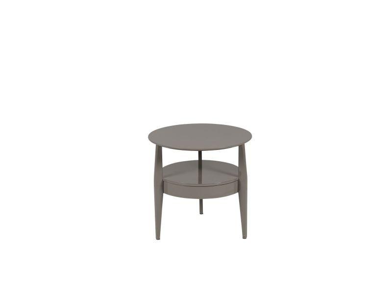 Table d'appoint laqué gris flynn - gris
