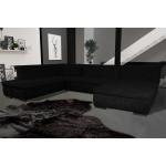 Canapé silema panoramique angle gauche noir