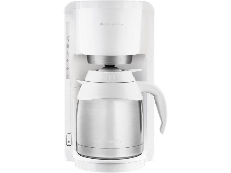Cafetière électrique de 1,25l pour 12 tasses 850w blanc
