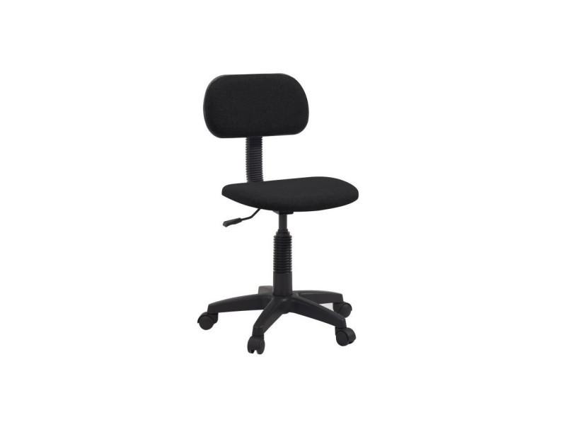 Pikto chaise de bureau dactylo tissu noir l p cm