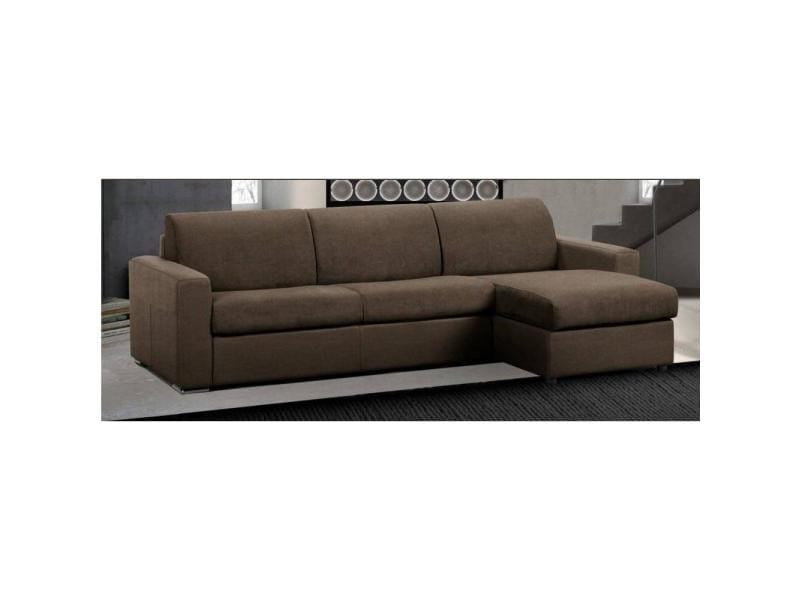 canap d 39 angle r versible ouverture rapido master couchage 160cm matelas 18cm tweed taupe. Black Bedroom Furniture Sets. Home Design Ideas