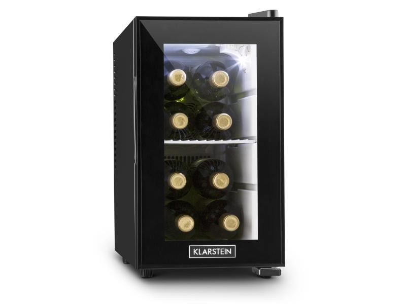 Klarstein beerlocker mini réfrigérateur à boissons minibar 21l classe a+ - noir