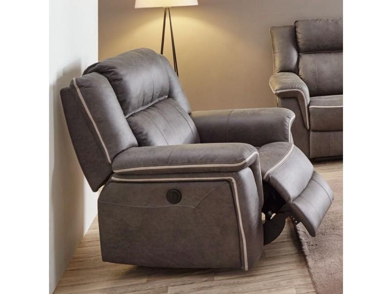 Fauteuil relax électrique tissu - tonya - l 108 x l 96 x h 106 - neuf