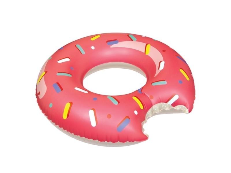 Bouée gonflable donut - rose