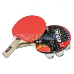 Set de tennis de table (2 raquettes + 3 balles + housse)