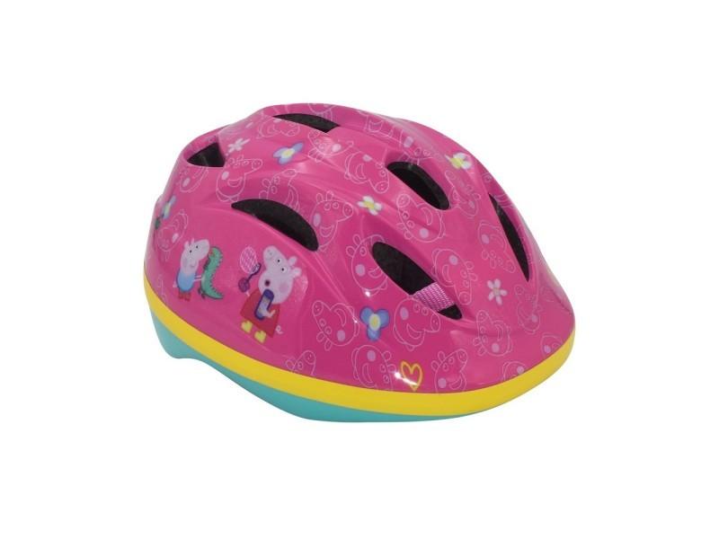 Casque vélo peppa pig rose reglable disney cochon